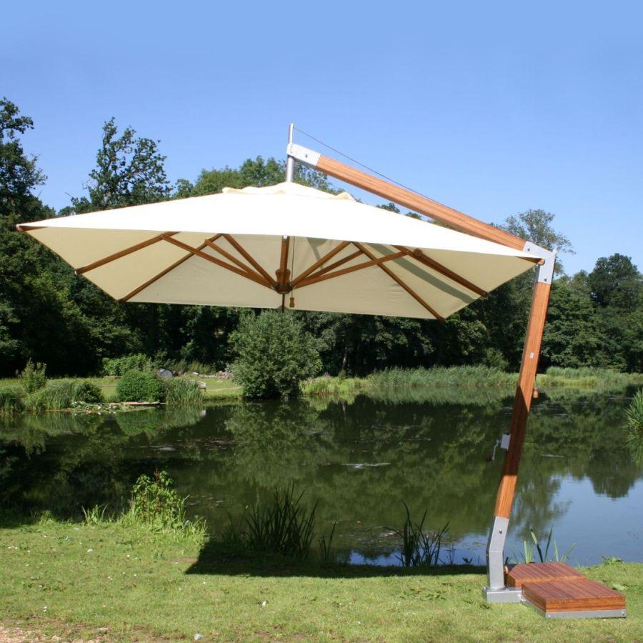 400 x 300 cm ampelschirm bambus side wind set mit bodenh lse all 156008. Black Bedroom Furniture Sets. Home Design Ideas