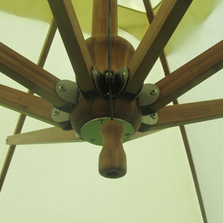 350 cm ampelschirm bambus side wind set mit bodenh lse all 156000. Black Bedroom Furniture Sets. Home Design Ideas