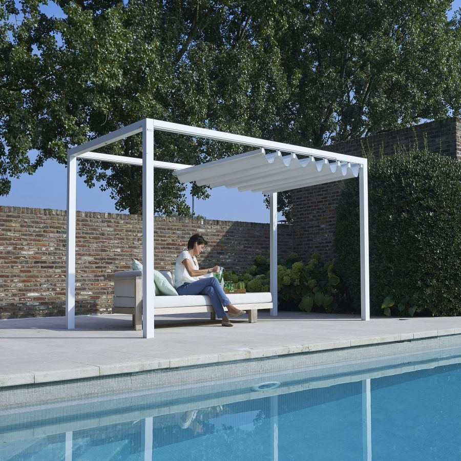 350 x 350 cm design pergola siena rot siena350350. Black Bedroom Furniture Sets. Home Design Ideas